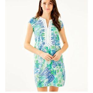 Lilly Pulitzer Madia Tunic Dress Whisper Blue Smal